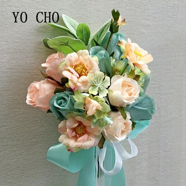Yo Cho Rose Brautjungfer Bouquet Brautstrausse Mariage Fur Braute