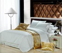 100% algodón satén blanco de la calidad del hotel juegos de cama, funda nórdica, juegos de camas twin completa reina rey de lujo super king size