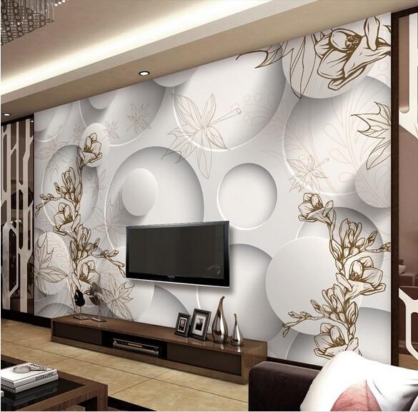 Elegant Custom 3d Mural 3D Stereo Simple But Elegant Wallpaper Mural Living Room TV  Backdrop Wallpaper Great Ideas