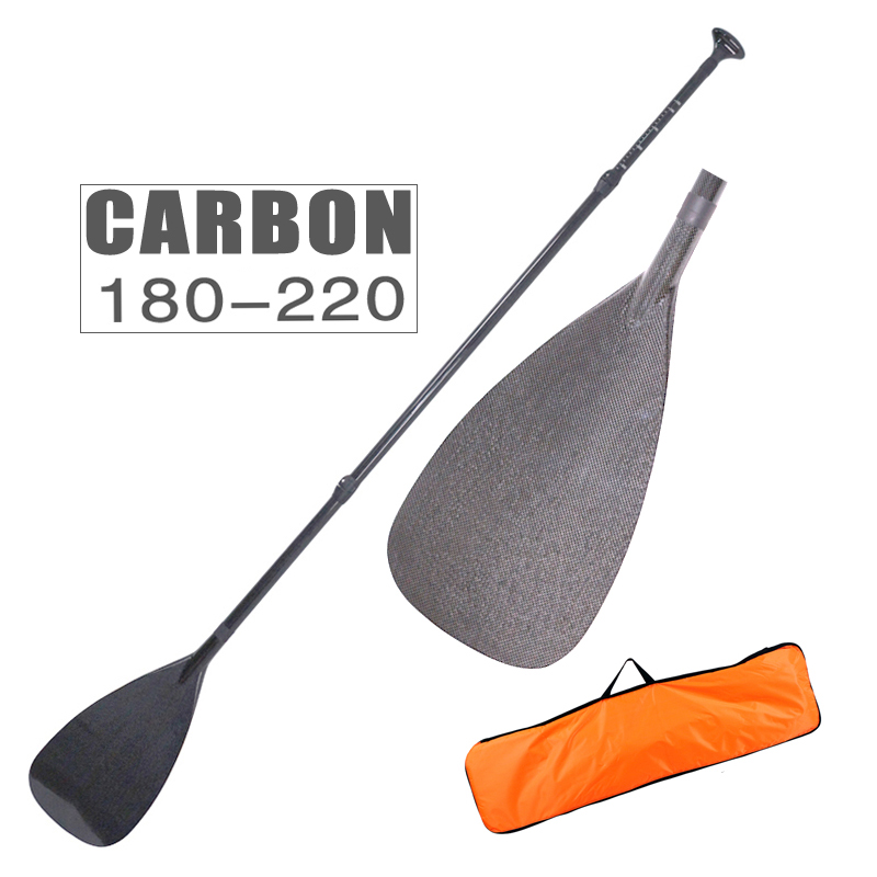 light weight carbon paddle fiberglass oar for SUP stand up paddle surf board adjustable extendable 220cm black T handle oar toddler
