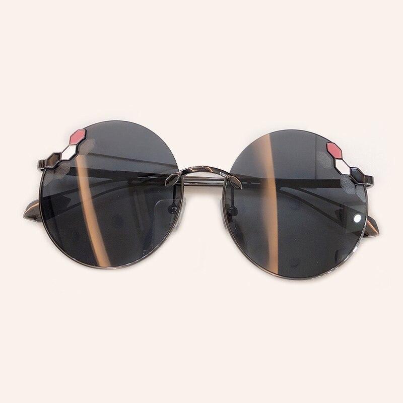 2019 nouveau rond femmes lunettes de soleil marque Designer haute qualité Vintage lunettes de mode avec boîte d'emballage Oculos D Sol Feminino