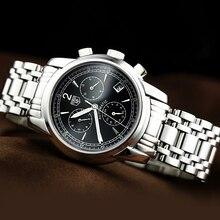 Tss мужские механические Наручные Часы Световой Известная Марка Мужчины Бизнес Часы Водонепроницаемые Часы Часы часы Из Нержавеющей Стали