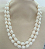 New 8x10mm natural Australian south sea white pearl necklace earring gift