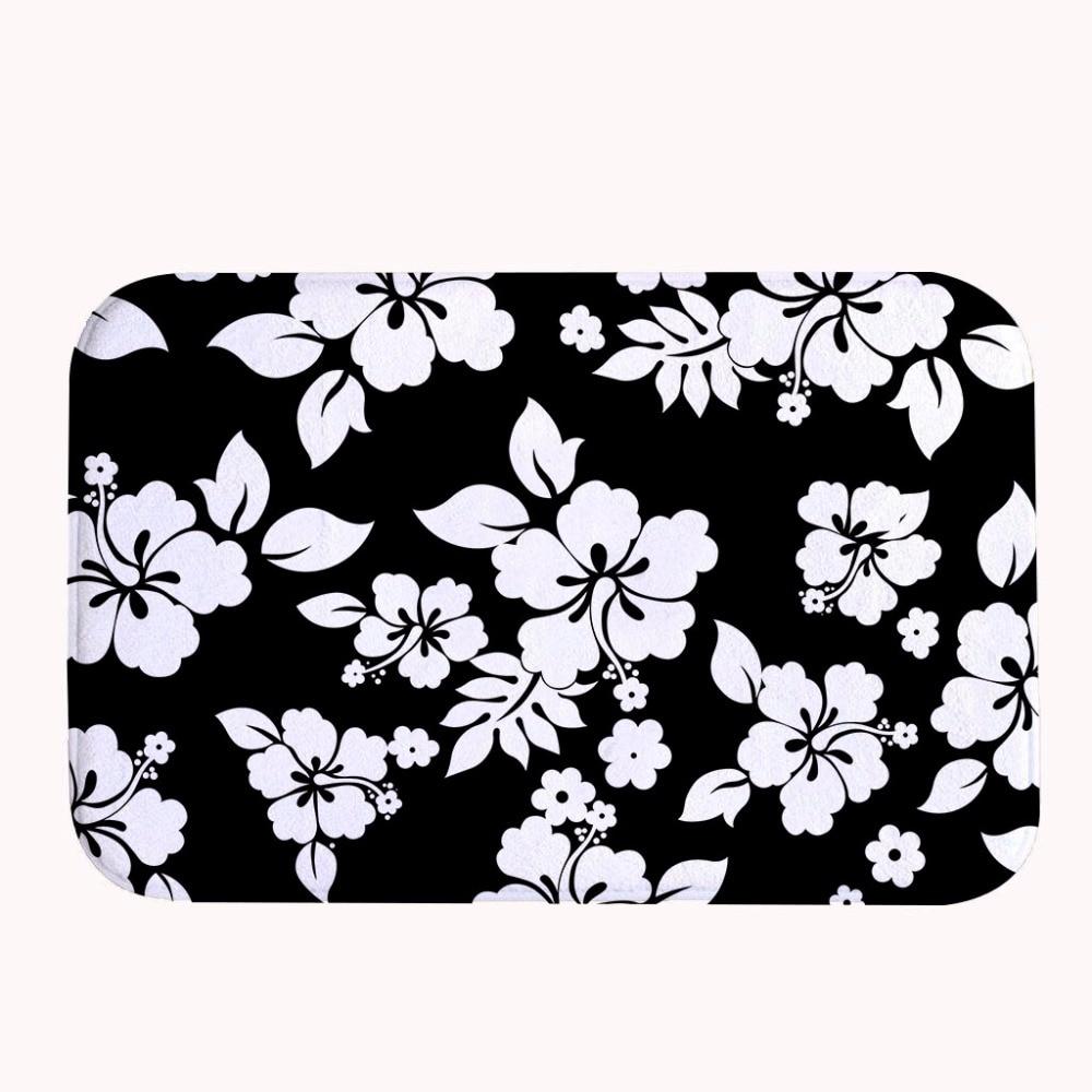 2017 Cool Print Door Mat Floor Carpet Coral Fleece Flowers Rug