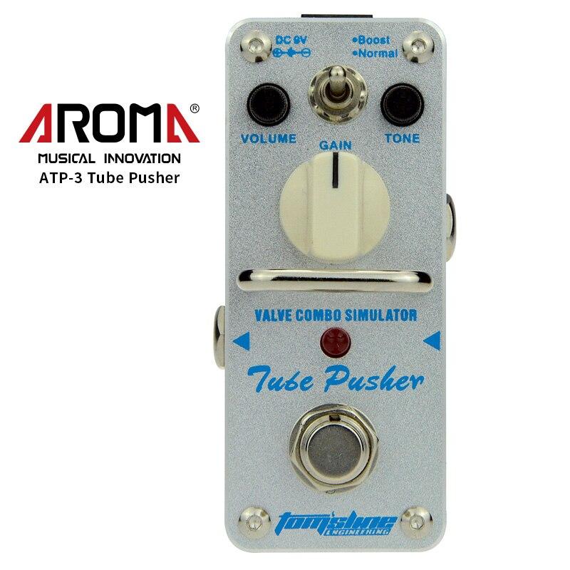 AROMA ATP-3 effet guitare pédale Tube poussoir Valve Combo simulateur guitare électrique effet pédale Mini simple effet véritable contournement