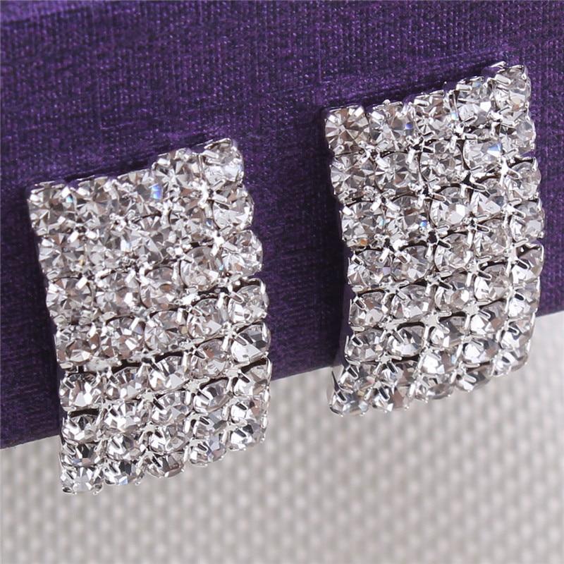 Grace Jun Gaya Baru Berlian Imitasi Kristal Klip Geometri pada - Perhiasan fesyen - Foto 3