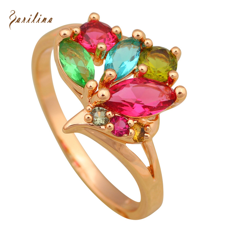 New 2017 Birds multi gem stone rings for teen girls Fashion ...