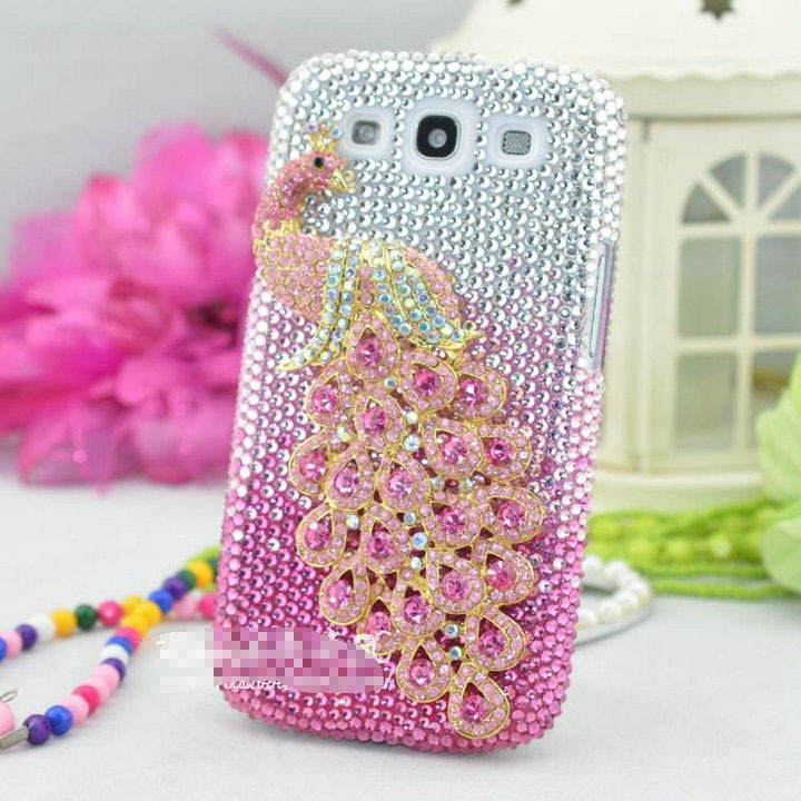 buy popular 95df5 2b456 US $12.89 |FreeShipping!Customize Phone Cover/Case for Samsung Grand Prime  Rhinestone Peacock Skins for Galaxy G5306W G5308W G5309W on Aliexpress.com  ...