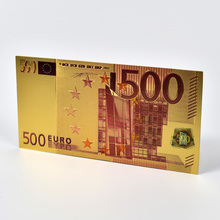 500 Euro Colorful Gold Foil Banknotes with Envelope