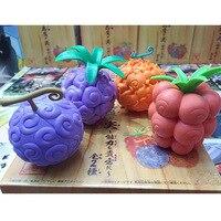 Tek Parça Şekil One Piece Anime Şeytan Meyve Lanetli Meyve Action Figure Sakız-Sakız Meyve Mera-mera Meyve oyuncaklar 4 adet/takım 6-7 cm