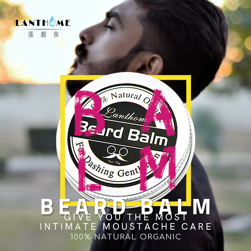 New Lanthome Beard Oil and Balm Moustache Wax beard grooming conditioner beard balm for styling moisturizing smoothing gentlemen 4