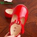 New Born Baby Girls Zapatos Rojo Negro Rosa Pura Chaussure fille de Primera Walkers Bowtie Partido de La Princesa de LA PU Zapatos de cuero Infantil chica