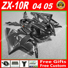 full Fairings for 2004 2005  Kawasaki ZX10R  04 05 ZX-10R  high grade glossy black  ZX10 fairing set 7 gift KF73