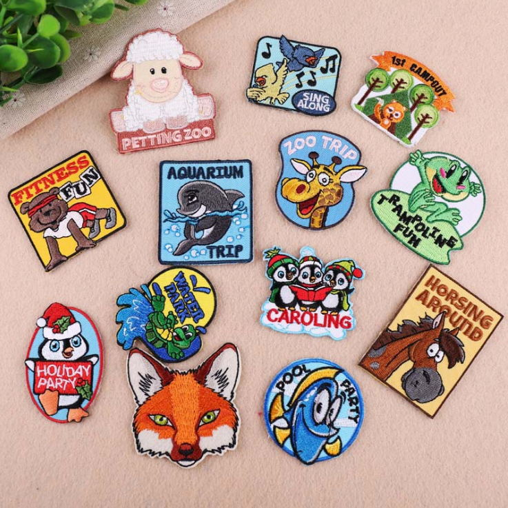 Cheap Sale 1 Pcs Animals Embroidered Iron On Cartoon Patches Clothing Accessory Bag Hat Shoe Badges Repair Appliques Phone Decor Diy Home & Garden
