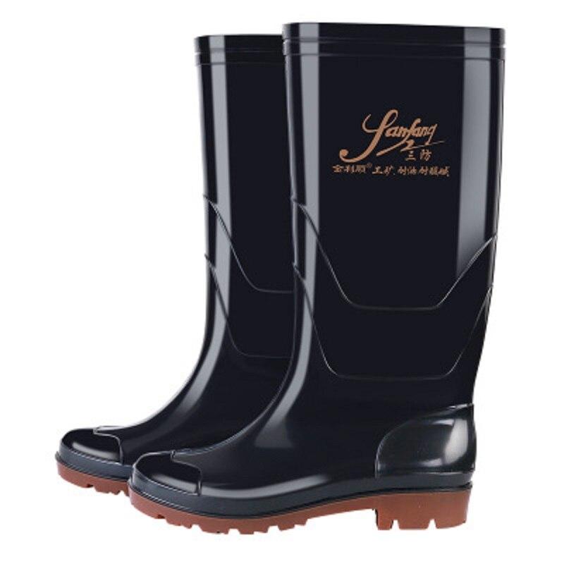 2777d0d05 Aos Ácidos Prova Da Resistente Álcalis De Óleo Usar Preto Chuva Dos Fábrica  D' Homens E Direto Sapatos Botas À Água xn08PwqCq