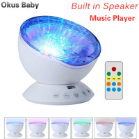 2019 Ocean Wave Starry Sky Aurora LED Toys Night Light Projector Novelty Lamp USB Lamp Nightlight Illusion For Baby Childre