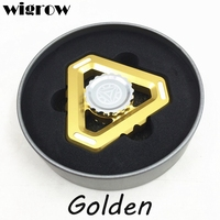 Wigrow Metal Luminous Tri Hand Spinner Glow In Dark EDC Fidget Toy For Autism And ADHD