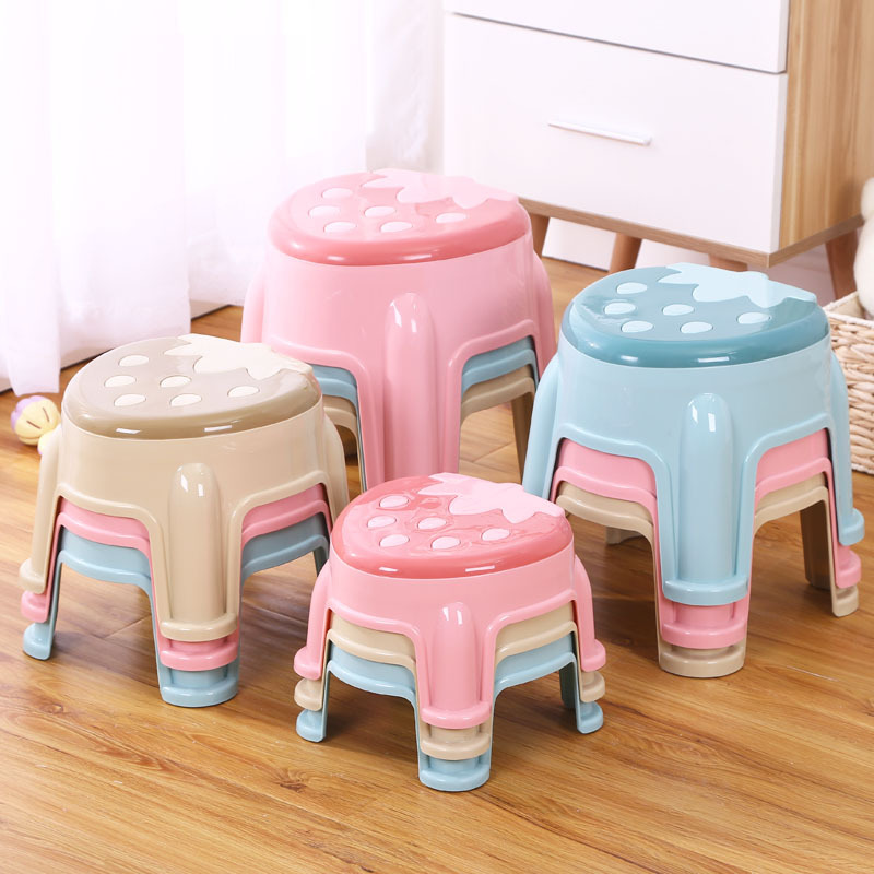 Creative Strawberry Children's Stool Children's Furniture Thickened Antiskid Cartoon Small Bench Baby's Footstool Lovely