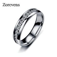 Crystal Wedding Stainless Steel Ring