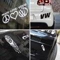 VW Colección de Pegatinas de Vinilo Reflectante Wholebody Car Sticker Decal Auto para Volkswagen Polo Golf Bora Passat Tiguan Car Styling