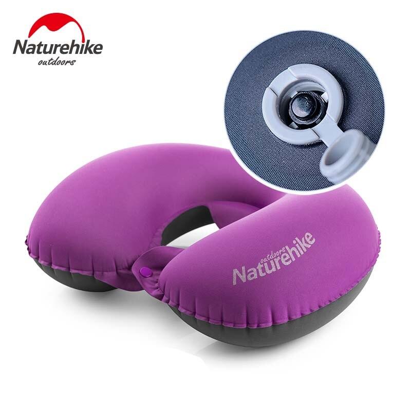 Сверхлегкая надувная u-образная Подушка NatureHike, аксессуары для путешествий, подушка для шеи, комфортная Подушка для сна на открытом воздухе, ...
