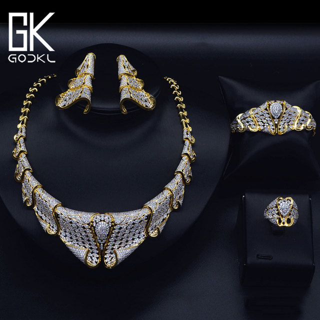 50% OFF Stock Deal – GODKI Luxury Nigerian Jewelry sets For Women Cubic Zirconia  African Jewelry Sets Indian bridal jewelry set