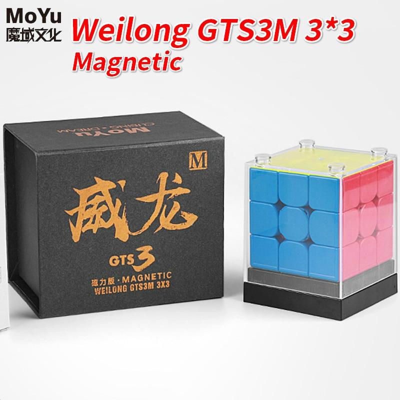 Nouveau Moyu Weilong GTS3M 3x3x3 Cube magique magnétique Weilong GTS3 M Speedcube Gts V3 magnétique jouets éducatifs Cube magique