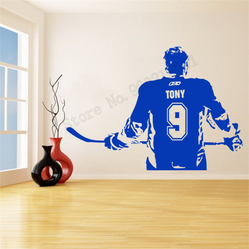 Customization Name And Number Wall Decoration Vinyl Art Removeable Poster Sports Boys Room Sticker Home Decor Modern Mural LY796