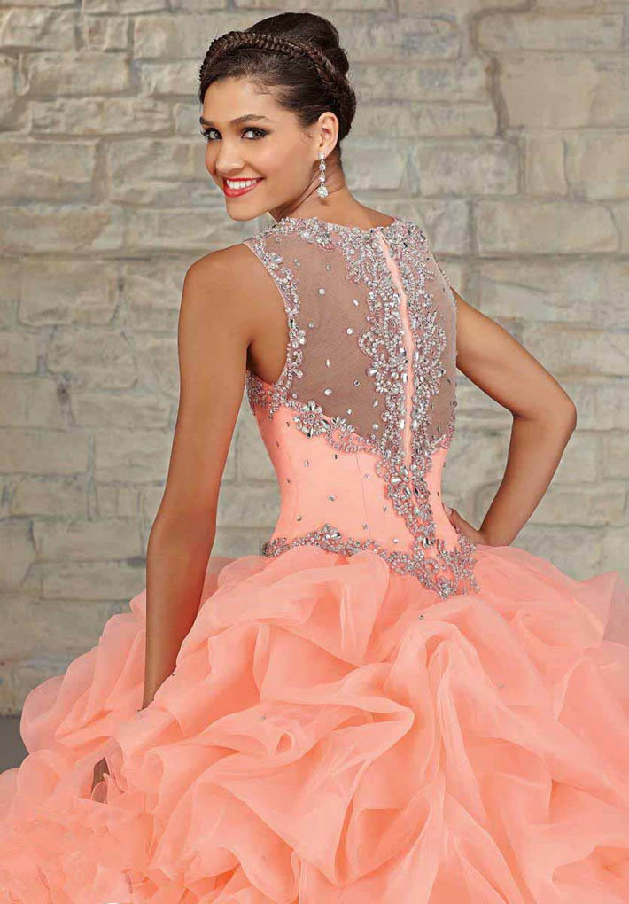 e6b0f73e69917 Sweet 16 Coral Ball Gown Quinceanera Dresses 2016 Custom Crystals Vestidos  De 15 Anos Mint Green Cheap Quinceanera Gowns Dress-in Quinceanera Dresses  from ...