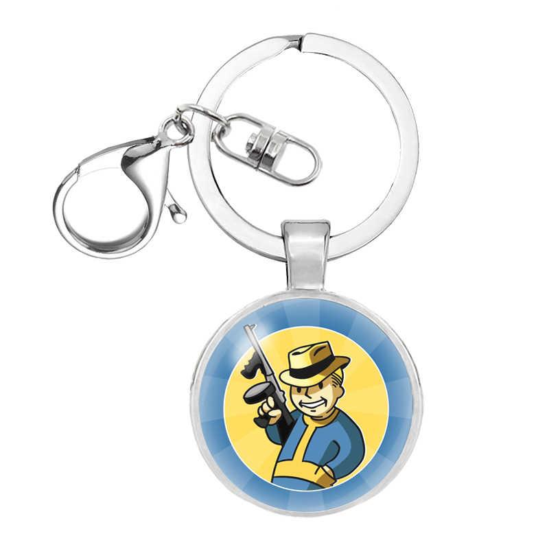 ใหม่ Fallout Nuka Cola keychain llavero แก้วและโลหะผสมผู้ชายผู้หญิงพวงกุญแจจี้แฟชั่นเครื่องประดับ