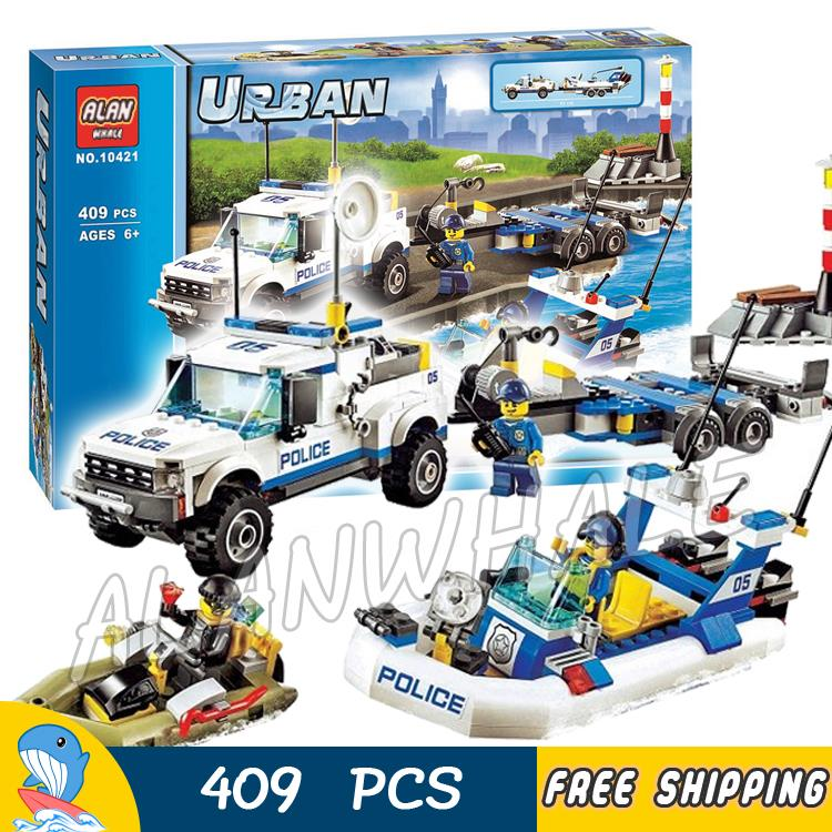 409pcs City Police Patrol Surveillance station New 10421 Set Model Building Blocks Figures Bricks Kids Toys Compatible With lego sermoido building block city police 2 in 1 mobile police station 7 figures 951pcs educational bricks toy compatible with lego