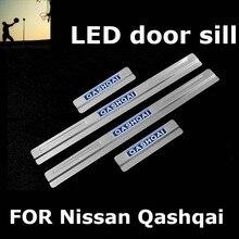 ДЛЯ Nissan Qashqai 2007 2008 2009 2010 2011 2012 2013 2014 из нержавеющей стали накладка ПРИВЕЛО накладки на пороги Автомобильные аксессуары укладки