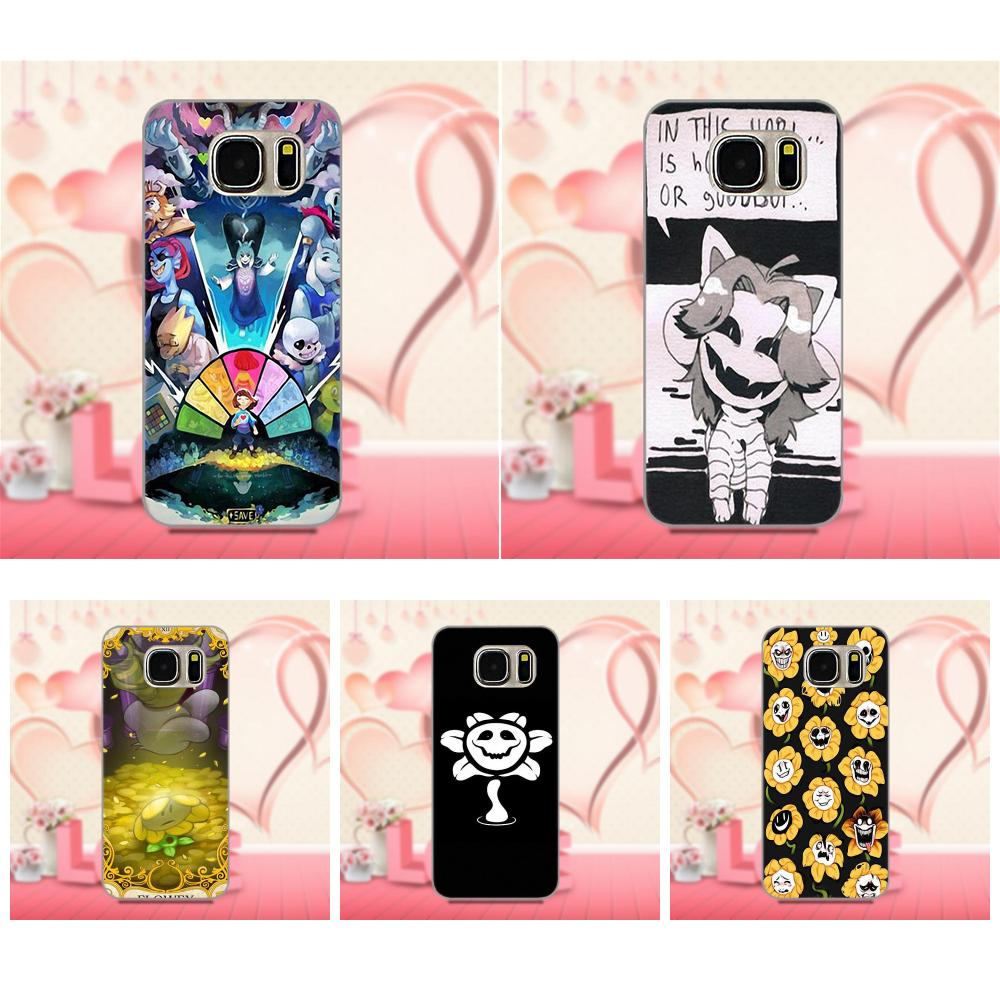 Bixedx de la cubierta del TPU del teléfono celular casos Flowey Undertale diseño para Samsung Galaxy A3 A5 A7 J1 J3 J5 J7 2016, 2017 s5 S6 S7 S8 S9 edge Plus