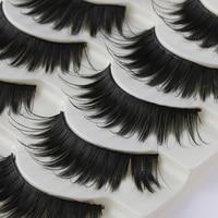 5 Pairs/Set New Handmade Black Soft Nautral Cross Long Thick False Eyelashes Eye Lashes Beauty Makeup Tools Party False Eyelashes