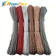 DHL Free 50 Pcs/Lot 252 Colors Paracord 100 Feet 550 Parachute Cord Lanyard Rope Type III 7 Strands Rope Outdoor Camping