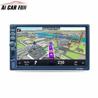 RK 7156G 2Din 7inch Bluetooth Car Radio FM AM RDS Radio GPS Navigation Car Multimedia Player