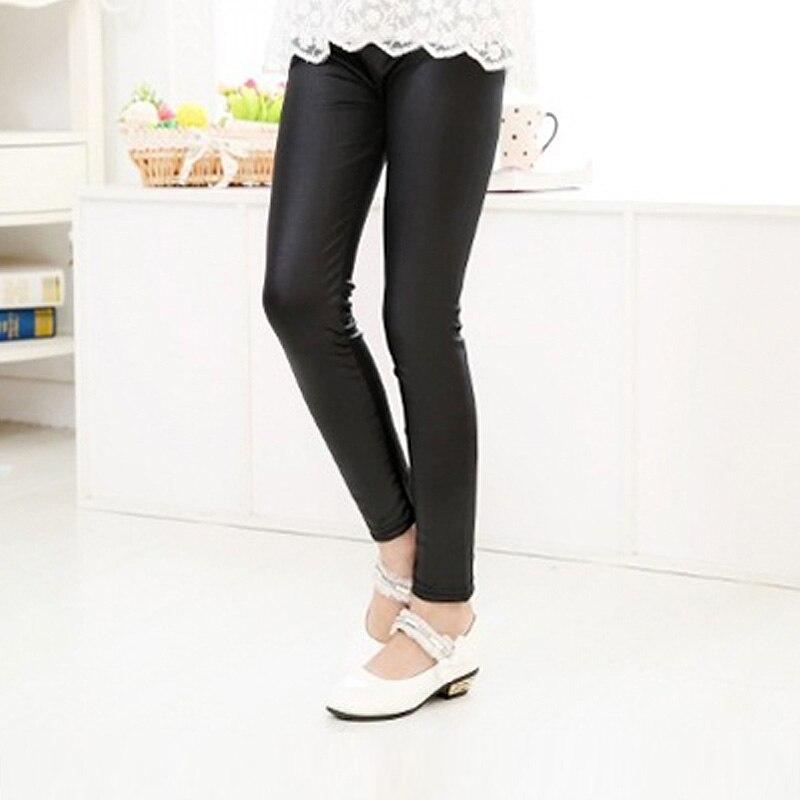Grils leggings faux leather high quality slim children leggings Baby kids High elasticity skinny pants leggings 6