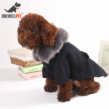 Pet Dog Wool Coat Puppy Cat Jacket Fur Collar Winter Warm Outwear Costume Supplies Cachorro Mascotas Clothes