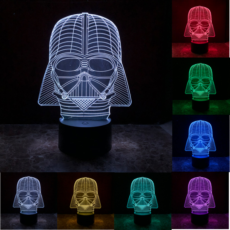 Back To Search Resultstoys & Hobbies Hearty Led Luminous Nightlight Colourful Changing Light Glow Star Wars Darth Vader Helmet Black Knight Mask Figure Toys