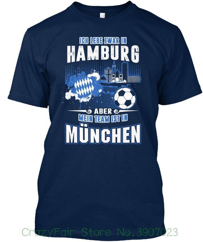 Bay Fan Hamburg - Ich Lebe Zwar In Aber Mein Standard Unisex T-shirt ( S - 5xl ) T-shirt Shirt Men