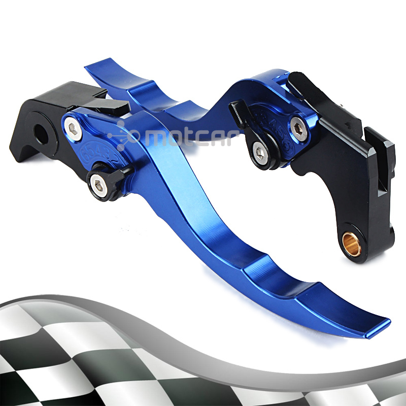 Blue Aluminum Hardware Left Aad Right CNC Short Levers Clutch Brake Lever For Yamaha Super Tenere 2012 2014 2013 XT1200ZE left clutch brake lever assy and front brake handle bar suit for cf650nk cfmoto parts code is a000 100200 a000 080113