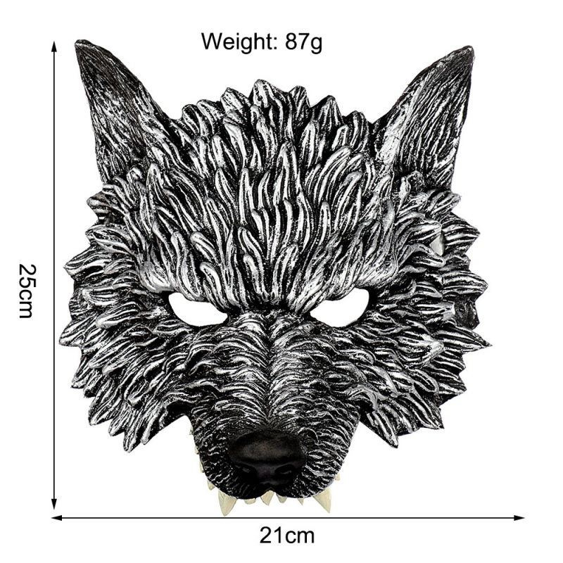Halloween 3D Wolf Mask Party Masks Cosplay Horror Wolf Masque Halloween Party Decoration Accessories 5