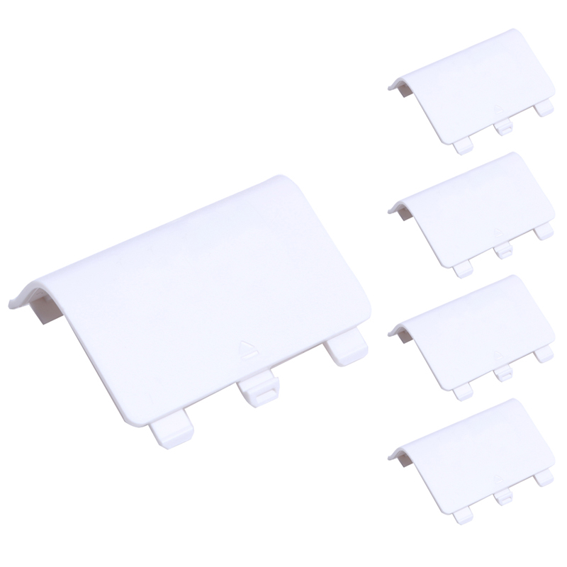 5Pcs-lot Replacement Battery Doors Cover Lid Shell ABS white back covers For Xbox One Controller Pad