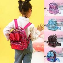 PUDCOCO Fashion Cartoon Rabbit Sequins Small Backpack Kindergarten Girls School Mini Bag Travel Casual Rucksack Shoulder Bags