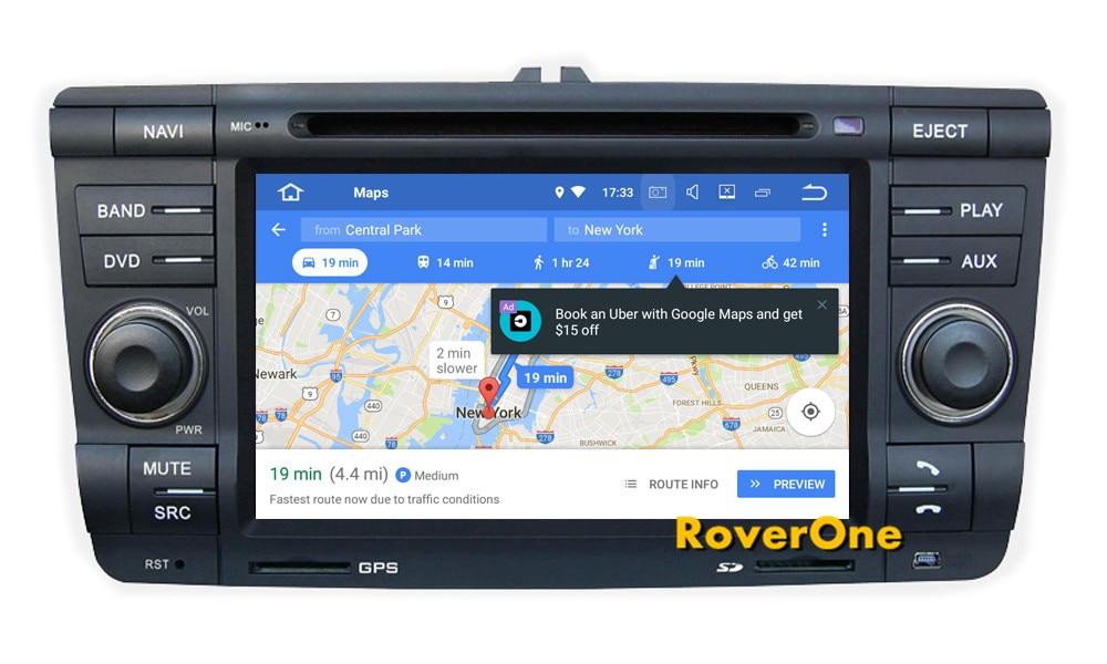 RoverOne S200 Android 8.0 Car Multimedia Player For Skoda Yeti Octavia Laura Autoradio DVD Radio Stereo GPS Navigation Sat Navi