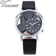 Vansvar Fashion Mickey Mouse Cartoon Watch Women Casual Quartz Watch Ladies Wristwatch Girls Clock Relogio Feminino