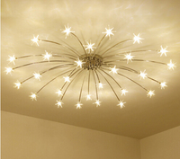 Европейский стиль Матовый Кристалл Потолочный светильник для гостиная спальня светодио дный led зал отеля Роскошные розы дома освещение