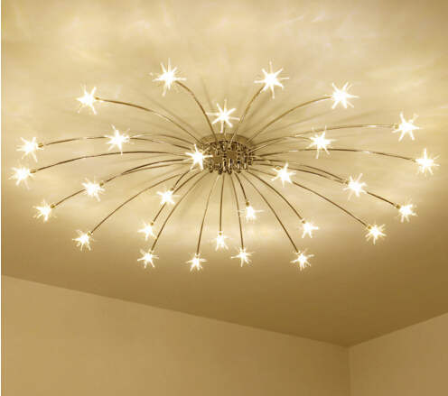 European Style Frosted Crystal Ceiling Light For Living Room Bedroom LED Hall Hotel Luxury Rose Lamp Home Lighting