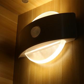 Светодиодный ночник с батарея датчика движения или USB перезаряжаемые лампа для шкафа Спальня Гостиная стены прихожей >> Zokon Lighting Store