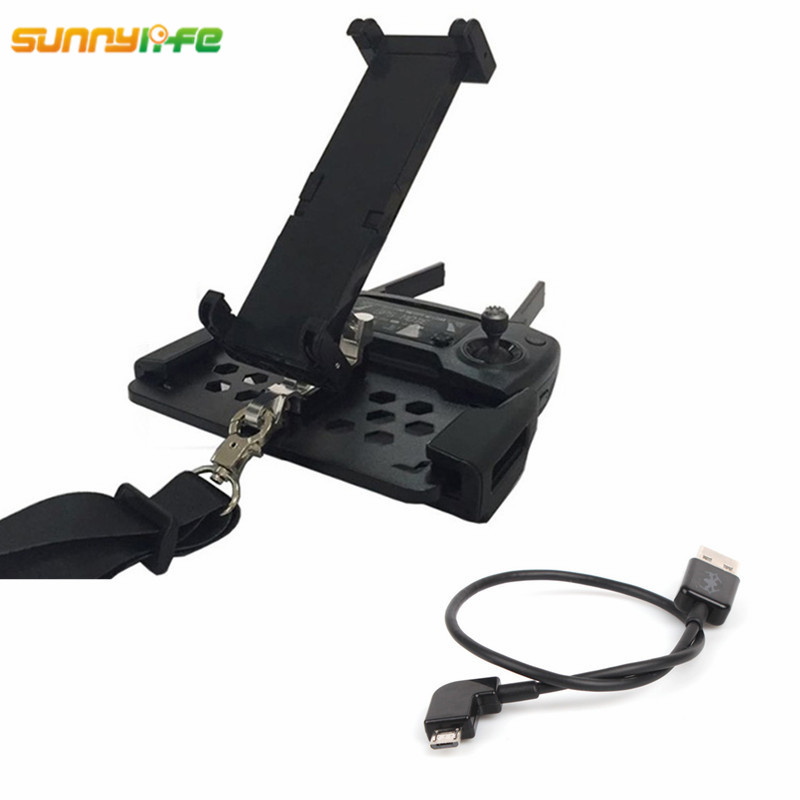 Sunnylife 2in1 Smartphone Tablet Holder Foldable Bracket Plate Mount with Android USB Port Charger Data Line for DJI Mavic PRO